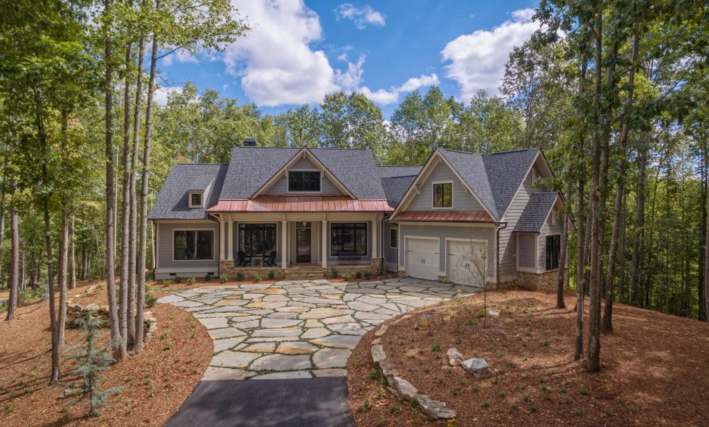 flagstone driveway The Cliffs model home Meritus Signature Homes